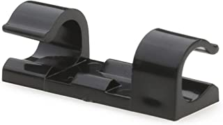 Cable Clips with Strong Self-Adhesive Pads - No Tools Required   Organize Cords and Wires for a Clean, Beautiful Home or Office   Set of 20   Black - by Titan Grip