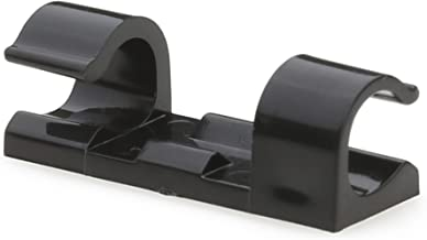 Cable Clips with Strong Self-Adhesive Pads - No Tools Required | Organize Cords and Wires for a Clean, Beautiful Home or Office | Set of 20 | Black - by Titan Grip