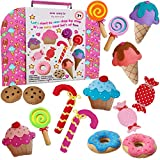 ARTIKA Sewing KIT for Kids, Yum-Yummy Kids Sewing kit,The Most Wide-Ranging Children Sewing Kit, DIY Craft for Kids,Sewing Supplies, Booklet of Cutting Stencil Shapes for The First Step in Sewing.