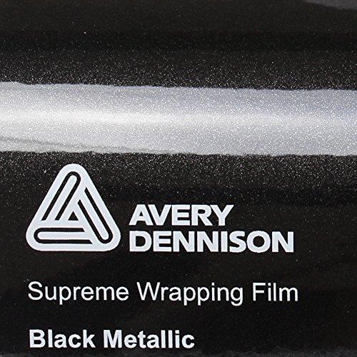 22,11€/m² Avery Supreme Wrapping Film Autofolie Gloss Black Metallic gegossene Glanz Profi Folie 152cm breit BLASENFREI mit Luftkanäle