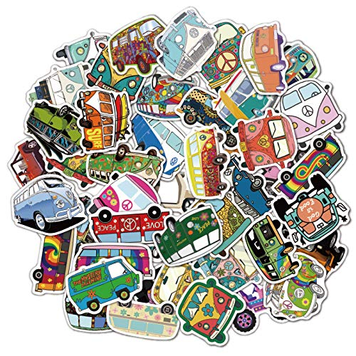 LVLUO Elegante Viaje en autobús, portátil, jardín de Infantes, Graffiti, Coche para niños, Pegatinas de Juguete, 50 Piezas