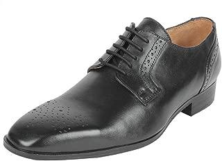 Salt N Pepper Leather Men Lace Up Shoes (42 EU / 8 UK, Black)