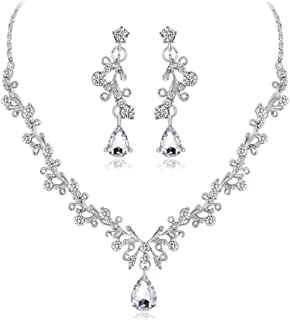 Collana Donna, huihui collana ciondolo donna elegante strass perla ciondolo collana catena collana catena amuleto apribile...