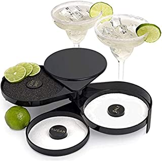 2 Sets Bar Glass Rimmers Salters and Ice Cube Clips for Margarita Cocktail Bartender Tool Party