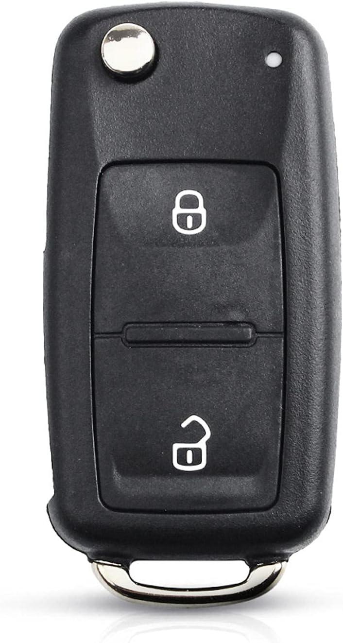 FLJKCT Car Key Shell Virginia shop Beach Mall 3 Folding Uncu Button Remote Flip