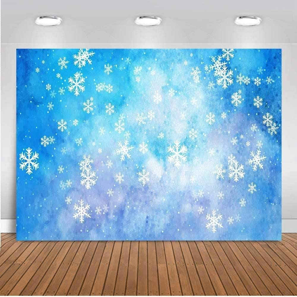 Zhy Fairy Tale Snowflake Background 7X5FT Merry Chirstmas Brokeh Photography Backdrop Vinyl Photo Background Studio Booth Props TVV016