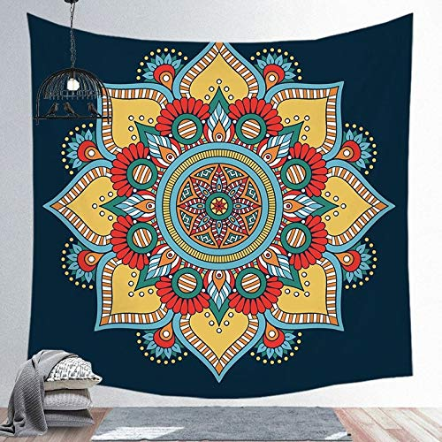 N / A Mandala Tapestry Wall Hanging Sandy Beach Throw Rug Blanket Camping Tent Travel Mattress Tapestry A9 130x150cm