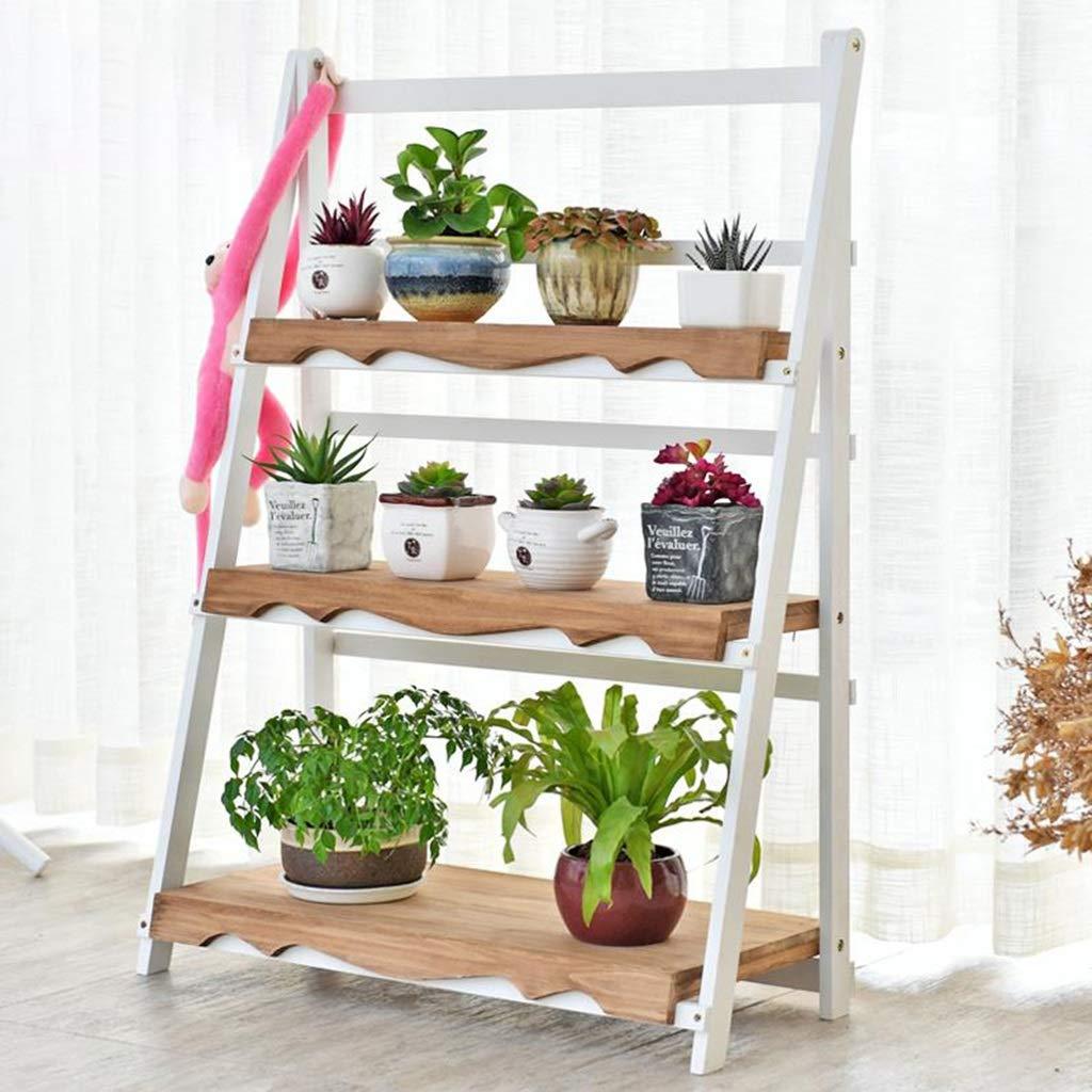 Huahua Furniture Escalera para Flores, 3 Niveles de Flores Escalera de Estante Plantas para macetas Estante Estante de exhibición Plegable de pie Ligero para el jardín Balcón Blanco: Amazon.es: Hogar