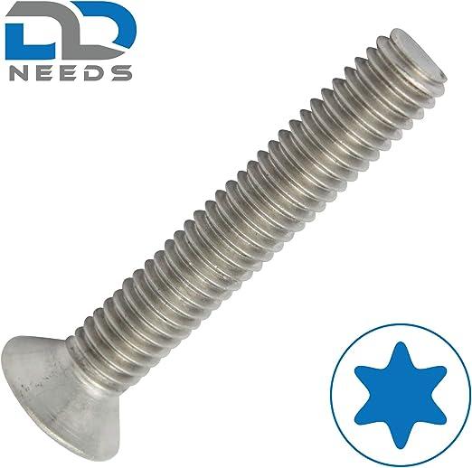 ISO 14581 // DIN 965 aus Edelstahl A2 V2A VPE: 20 St/ück Senkkopfschrauben Senkschrauben Gr/ö/ße M5 x 20 mm mit Vollgewinde und TX D2D