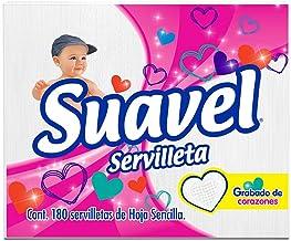 Suavel Servilleta, Paquete con 180 piezas de hoja sencilla
