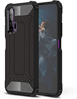 FanTing Case for Huawei Honor 20 Pro, [ Shockproof] [Heavy Duty] [Tough Armoured] Generous Rugged Tough Dual Layer Armor Case, Four corners thickened, Cover for Huawei Honor 20 Pro -Black