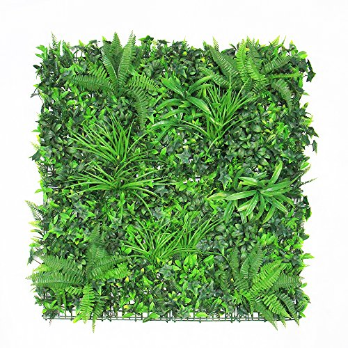 """ULAND Artificial Hedges, Greenery Verticial Garden Fence, Ivy Greenery Wall Cover Decorations, Pack of 1pc 40""""x40"""""""