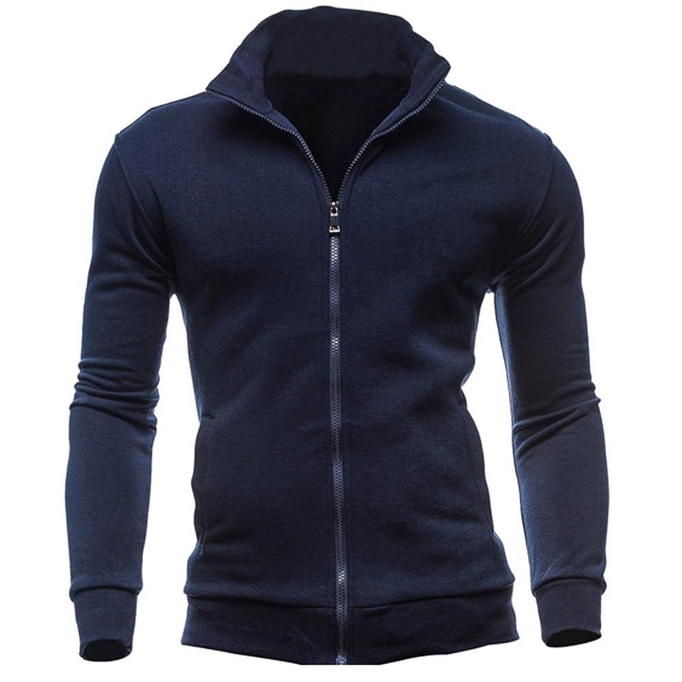 Kemilove Men's Autumn Winter Leisure Sports Cardigan Zipper Sweatshirts Tops Jacket Coat