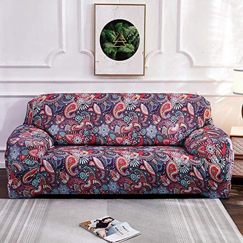 Spandex SofabezugMuster Sofabezüge Sofa Handtuch Wohnzimmermöbel Schutz Sessel Sofas, Farbe F, 3, Sitz 190.230cm
