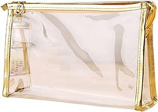 Jiyaru Clear Cosmetic Bag Transparent Makeup Bags Waterproof Travel Toiletry Bag Organizer with Zipper