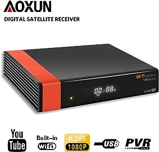 GT Media V8 Nova DVB-S2 Satellite Decoder Digital TV Receiver with Built-in Wi-Fi/SCART / 1080P Full HD/FTA Support CCcam, PVR Ready, Newcam, YouTube, PowerVu Dre Biss Key by Aoxun