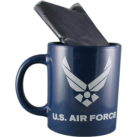 Black Coffee Travel Mug with United States AIR FORCE Emblem