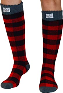 Womens Warm Tall Boot Socks W 6-10 Fleece-Lined Crew-Length Winter Socks