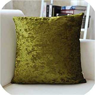 Soft Solid Cushion Cover Ice Velvet Pillow Case Blue Grey Coffee Purple for Home Sofa Bed 45x45cm 60x60cm,55x55cm,Green
