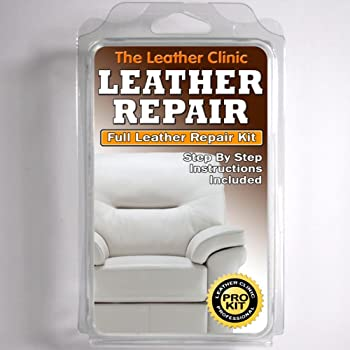 White Leather Sofa Chair Repair Kit For Tears Holes Scuffs With Colour Dye Amazon Co Uk Kitchen Home