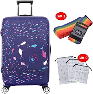 Suitcase Cover Thick Wear-Resistant Waterproof And Dustproof Cover 19-32 Inch High Elastic Breathable Luggage Cover