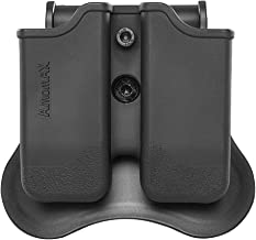 WOLFBUSH Tactical Double Magazine Pouch for Tokyo Marui/WE/KJW/KSC/KWA Sig P226/Beretta M9 Mags