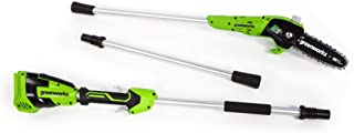 Greenworks PS24B00 8-Inch 24V Cordless Pole Saw, Tool