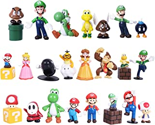 Great for Play or Collecting and Cake Decoration Super Mario Series Figures Toys 23pcs Kids Birthday Cake Toppers