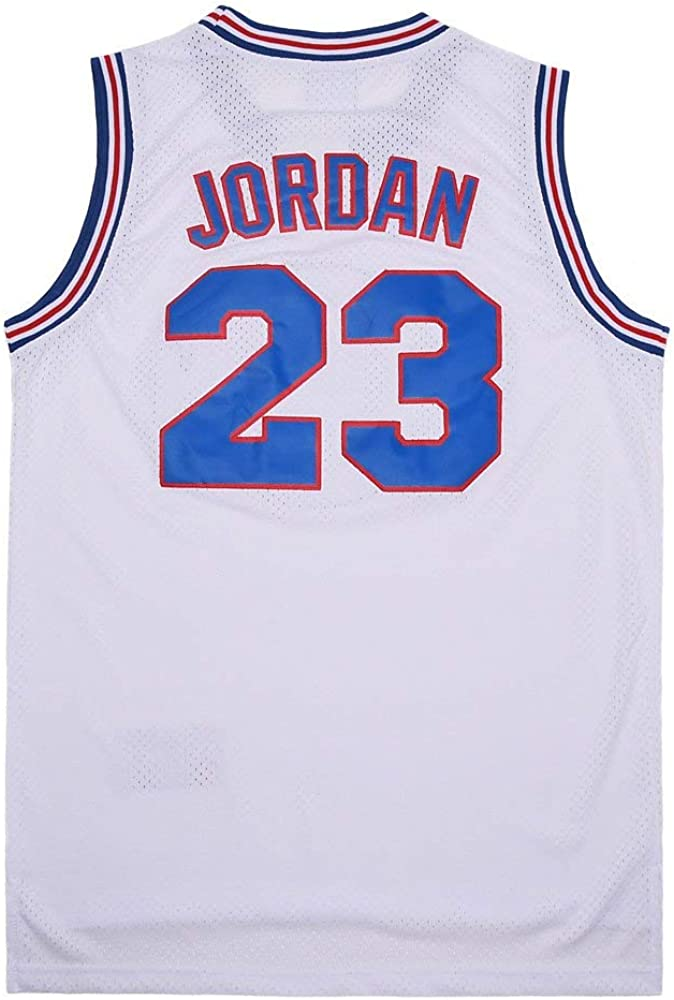 EKANBR Mens Space Jersey #23 Moive Basketball Jerseys Shirts 90s Hiphop Party Clothing: Clothing