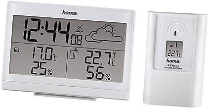Hama EWS-890 - Estación meteorológica (AA Mignon, Color Blanco, 14 cm, 4,8 cm, 10 cm)