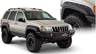 Bushwacker 10926-07 Black Cut-Out Fender Flare for Jeep Grand Cherokee WJ, (Set of 4)
