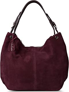 Women's Genuine Leather Suede Purse Shoulder Bag Casual Hobo bag