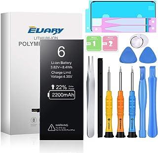 EVARY Batería de 2200mAh para iPhone 6 ,Reemplazo con una Mayor Capacidad Que Otras baterías, y Herramientas Completas de ...