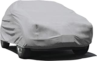 D-4  - Budge Duro Car Cover Fits Sedans up to 228 inches Polypropylene, Gray Renewed