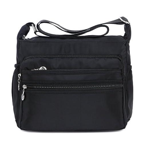 85381e79a837 Women s Multi-Pocket Casual Crossbody Handbags Waterproof Shoulder Nylon  Bags