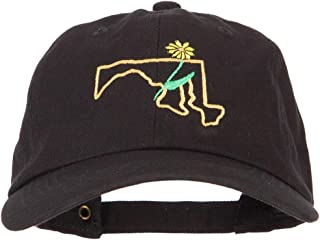 Maryland Black-Eyed Susan with Map Embroidered Unstructured Cap
