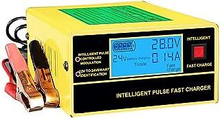 12V/24V bilbatteriladdare och underhåll Snabb automatisk batteriladdare för bil, motorcykel, marin, AGM (gul)