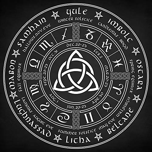 Zapista Triquetra Pagan Wheel of The Year Fine Art Print Celtic Wiccan Poster Mystical Esoteric Gifts Home Wall Decor Unframed (12' x 12')