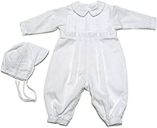 Baby Boys Christening Outfit, Pique Christening Baptism Long Sleeve (3-24 M)