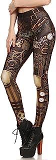 Women Steampunk Retro Leggings Comic Cosplay Punk Print Polyester Gothic Trousers Capris Pants S-4XL Plus Size