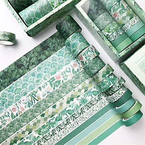 12er Set Washi Tape, Masking Tape Klebebänder Set Dekoratives Klebeband für DIY Scrapbooking (G)