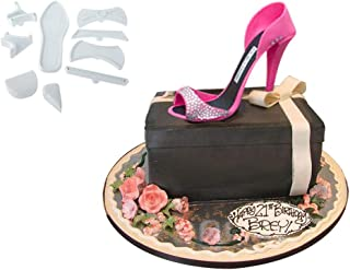 Joinor Set of 9 High-Heeled Shoes Fondant Cake Mould Sugarcraft Baking Cutter Mold Fondant Cake Decorating Tools