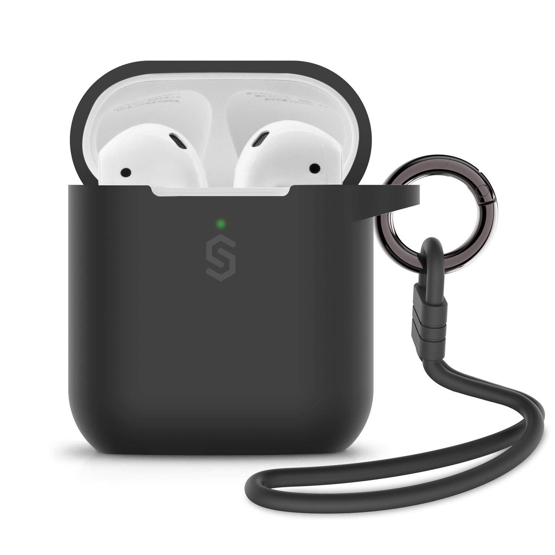 Syncwire Estuche para AirPods, Silicona AirPods 1/AirPods 2 Estuche con Llavero/Correa/Bolsa de Almacenamiento Suave para Apple AirPods [Admite Carga inalámbrica] [Impermeable y a Prueba de Golpes]: Amazon.es: Electrónica