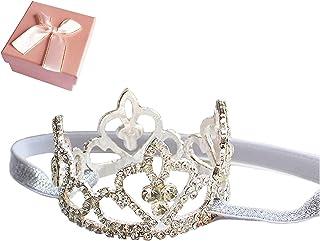 Elesa Miracle Baby Girl Infant Toddler Crystal Crown Tiara Headband Baby Photography Headband Props