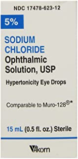 Sodium Chloride Ophthalmic Drops, 5%, 15mL, Pack of 3