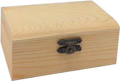 Todo menaje Caja de Madera con Tapa Forma de baúl: Amazon.es: Hogar