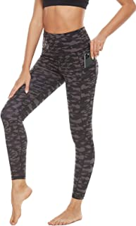 AvaCostume Women's High Waist Tummy Control Workout Yoga Pants with Pockets