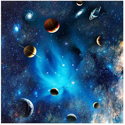 ADOUPINTU Puzzle-Blue Fantasy of Outer Space- Space Puzzle 1000 Piece Challenge Blue Board Rompecabezas - Adultos Pared de Madera Arte Decoración para el hogar Niños