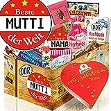 Beste Mutti der Welt / DDR Geschenkbox / mit Herzbox / Süssigkeiten Set DDR