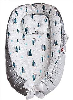 Borje Baby Lounger ، پنبه ارگانیک فوق العاده نرم و قابل حمل نوزاد تازه نفس ، مناسب برای هم خوابیدن (پاندا)